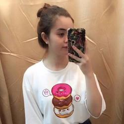 Áo thun nữ tay lỡ form rộng in hình bánh Donut Chiba Shop