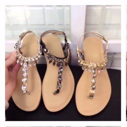 giày sandal quai T đính đá 1944