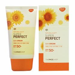 Kem Chống Nắng Theffaceshop Natural Sun Super Perfect SPF50 PA+++