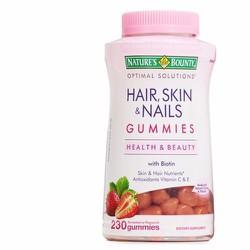 Kẹo Dẻo Nature Bounty Hair Skin Nails đẹp da móng tóc 230 viên Mỹ