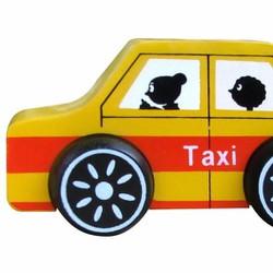 Xe mô hình bằng gỗ - taxi