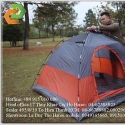 lều dã ngoại 2 lớp lều đi rừng lều du lịch 3 - 4 người