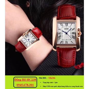 Đồng hồ nữ SKMEI mặt chữ nhật sang trọng