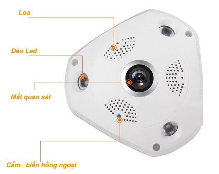 Camera IP VR-CAM 3D XOAY 360 ĐỘ 3