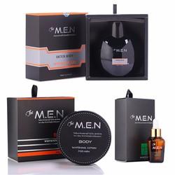 Bộ dưỡng trắng da hoàn hảo The Men 3 in 1 - Body, Serum, Detox