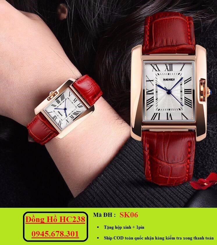 Đồng hồ nữ SKMEI mặt chữ nhật sang trọng 3