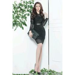 Đầm ren đen thiết kế body tôn dáng tuyệt đẹp