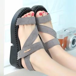 Giày Sandal Nữ dễ thương phong cách thời trang Hàn Quốc - XS0402