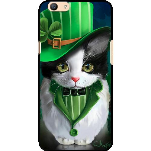 Ốp lưng Oppo. F1s A59 Mèo Irish nón xanh