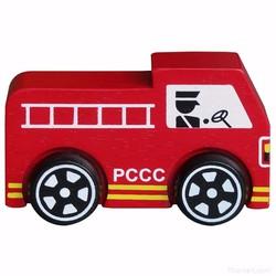 Xe mô hình bằng gỗ - Xe cứu hỏa