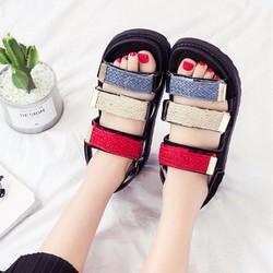 Giày Sandal Nữ màu sắc nổi bật phong cách thời trang Hàn Quốc - SG0398