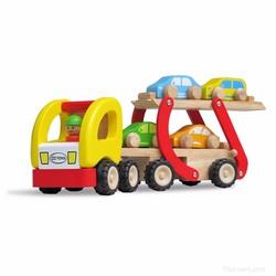 Xe mô hình bằng gỗ - xe hai tầng