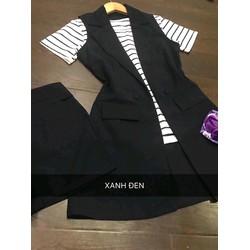 Sét áo thun sọc set vest sort cực hot