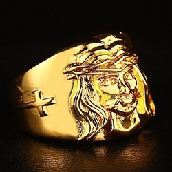 Nhẫn Nam Hình Chúa Mạ V18K Hàng Độc