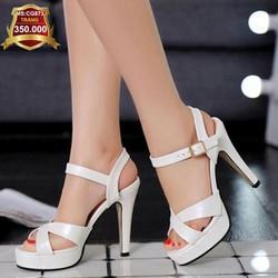 Giày cao gót đan chéo