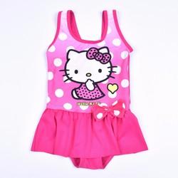 Bộ bơi bikini hồng kitty chấm bi 2 đến 7 tuổi