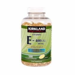 Viên Uống Đẹp Da Kirkland Signature Vitamin E 400iu 500 Viên