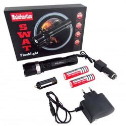 Đèn Pin Siêu Sáng Police* SWAT sử dụng pin sạc