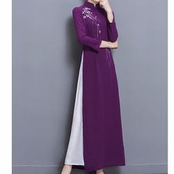 Hàng nhập-áo dài truyền thống thanh lịch-ADN00933