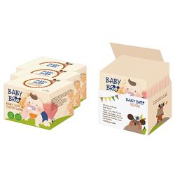Khăn lau răng miệng trẻ em Baby Bro - 3 hộp 75 miếng.