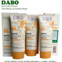 Kem chống nắng trắng da cao cấp DABO White Sunblock Cream