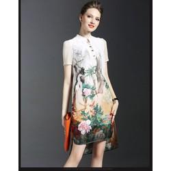 Đầm Suông Cao Cấp Họa Tiết Hoa Mẫu Đơn - MS168_ENYSHOP