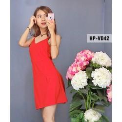 đầm hot girl siêu đẹp 2 màu y hình