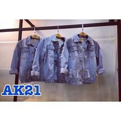 Áo khoác jeans rách _MỎ CHU SHOP
