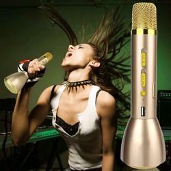 micro karaoke kiêm loa Bluetooth sạc dự phòng k088 vàng