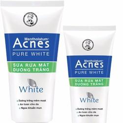ACNES PURE WHITE CLEANSER - Sữa rửa mặt dưỡng trắng 100g