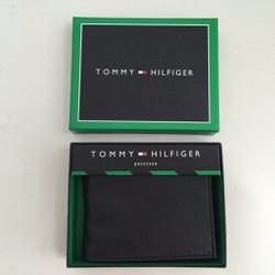 MS617 - Ví nam bằng da TommyHilfiger Passcase Wallet màu đen