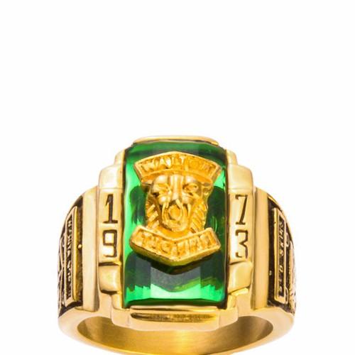 Nhẫn Nam Ti-tan 1973 Vàng - Xanh Lá