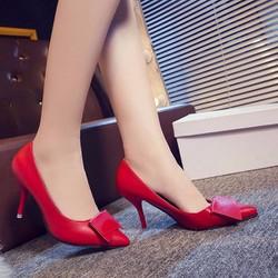 HÀNG LOẠI I CAO CÁP - Giày cao gót nơ viền chỉ