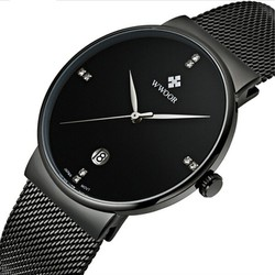 Đồng hồ WWOOR siêu mỏng máy Nhật, không thấm nước - Mã số: DH1704