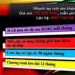 SIM 4G MOBIFONE 30GB mỗi tháng