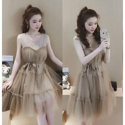 Đầm ren xòe cúp ngực cao cấp- hàng nhập Quảng Châu