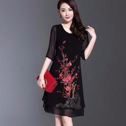 Đầm suông họa tiết cực đẹp NS892