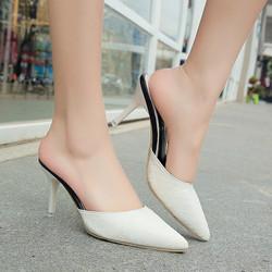 Giày Cao Gót Vân Nổi Mũi Nhọn GCG21