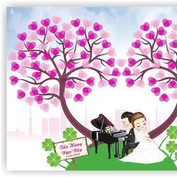 Tranh in dấu vân tay, Tranh ký tên, Sổ ký tên ngày cưới