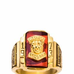 Nhẫn Nam Ti-tan 1973 Vàng - Đỏ