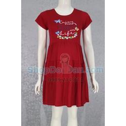 Đầm bầu mặc nhà cổ tròn - thun