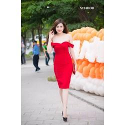 Đầm ôm body kiểu trễ vai dễ thương