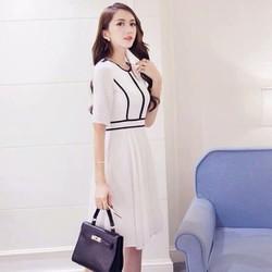 Đầm xòe viền công sở DX3014