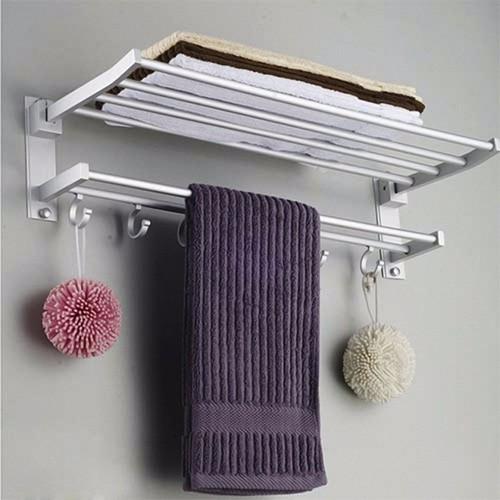 Giá treo khăn nhà tắm bằng inox cao cấp 2 tầng