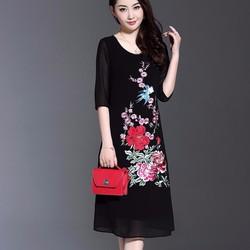 Đầm suông dáng dài cực đẹp NS618