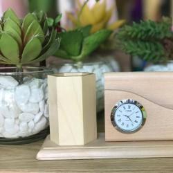 Combo 2 Đồng hồ để bàn bao khắc tên