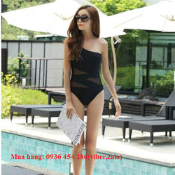 đồ bơi nữ, bikini đẹp, bộ Monokini phong cách Hàn màu đen