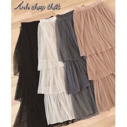 Set váy xoè áo sơmi xẻ tà _MỎ CHU SHOP