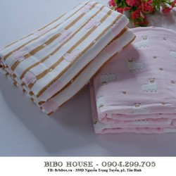 Khăn vải xô cotton 6 lớp