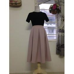 Váy xếp ly 2 túi Vintage - Hàng may thiết kế Hanhfs.com